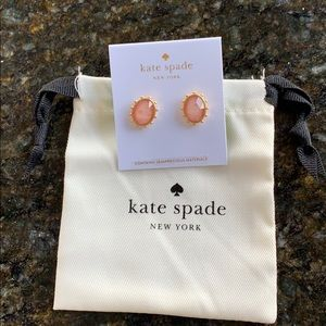 NWT Kate spade light pink oval stud earrings